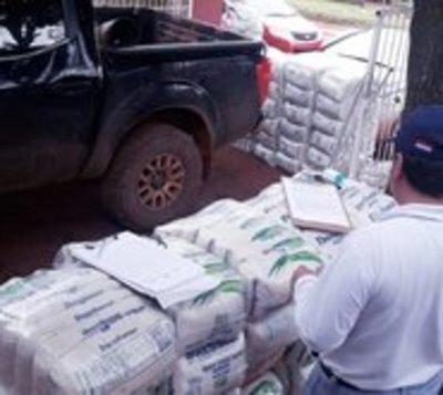 Incautaron dos toneladas de azúcar de contrabando en Canindeyú