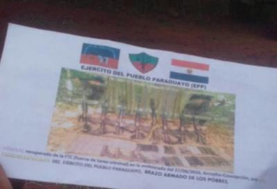 Aparecen supuestos panfletos del EPP