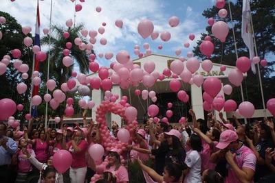 """Realizan cierre de la campaña """"Un Toque Rosa Alto Paraná"""""""