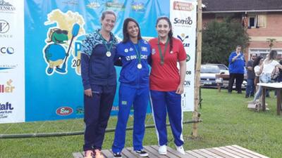 Atleta esteña sube al podio Panamericano de canotaje