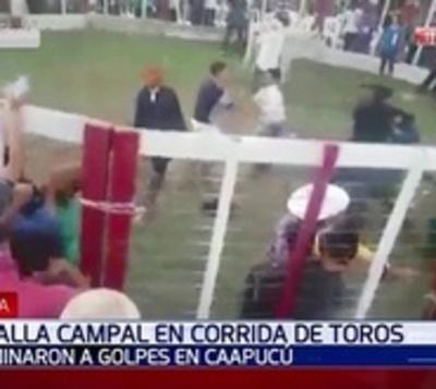 Heridos leves tras batalla campal en un torín de Paraguarí