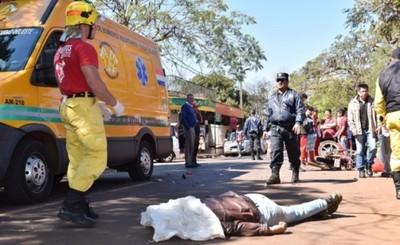 Persecución policial termina en muerte