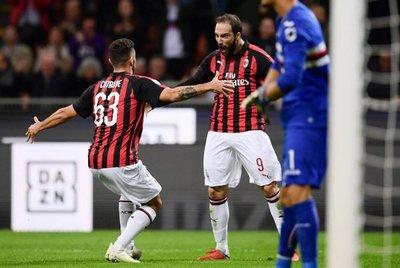 Milan remonta y derrota a la Sampdoria