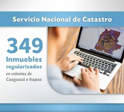 Empadronaron casi 350 inmuebles en colonias de Caaguazú e Itapúa