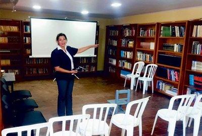 Rehabilitan una biblioteca departamental