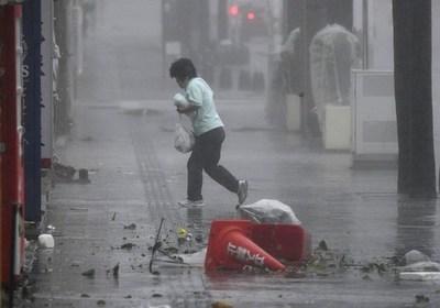 El tifón Trami ya deja varios heridos en el suroeste de Japón
