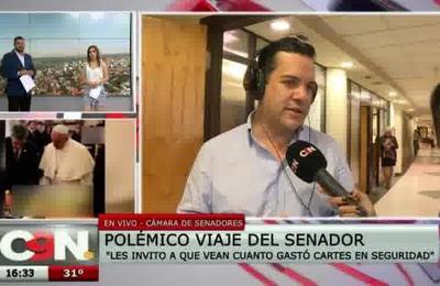 Rodolfo Friedmann: ''Les invito a que vean cuánto gastó Cartes en seguridad''