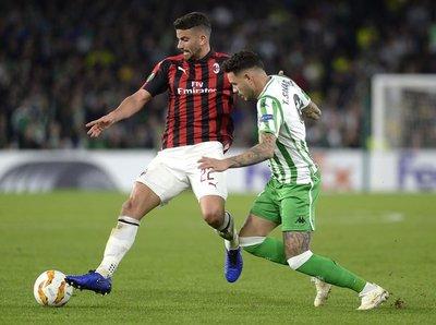 Con Sanabria, Betis igualó ante el Milan
