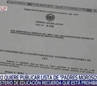 MEC recuerda que publicar lista de alumnos morosos está prohibido
