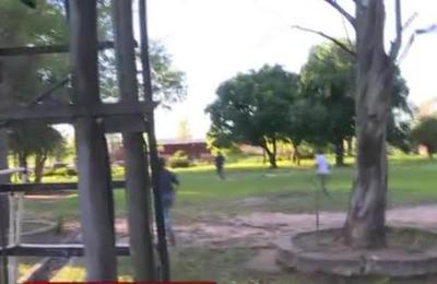 Persecución y balacera es captada en vivo