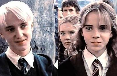 Así fue el reencuentro 'playero' de Hermione y Draco que emociona a los fans de Harry Potter