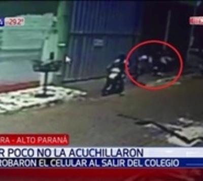 Intentaron apuñalar a estudiante para robarle el celular