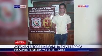 Aprehenden a presunto autor del asesinato de una familia en Villarrica