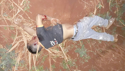 Encuentran en un camino vecinal a agricultor que fue secuestrado y asesinado a tiros
