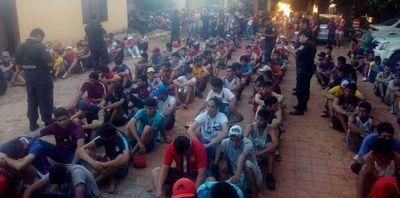 Detienen a hinchas de Cerro por incidentes con la Policía