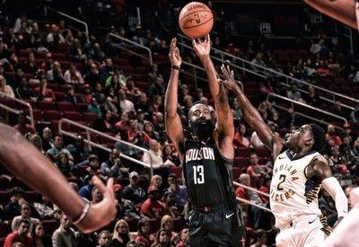 Harden guía con 40 puntos a Rockets en triunfo sobre Pacers