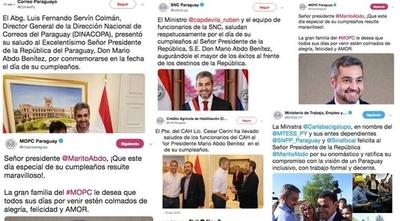 """HOY / La nueva """"fecha feliz"""": oleada de saludos institucionales por cumpleaños de Abdo"""