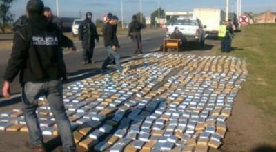 Decomisan en Argentina más de 3.000 kilos de marihuana llevados de Paraguay