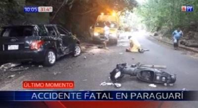 Hombre fallece en accidente sobre ruta que une Paraguarí con Piribebuy