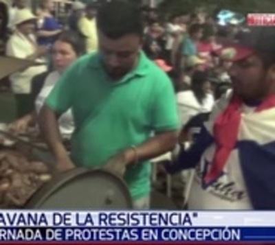 Con cena popular velan por renuncia de intendente de Concepción