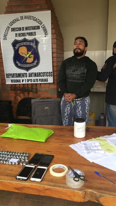 Procesan a colombiano detenido con cocaína en un laboratorio clandestino
