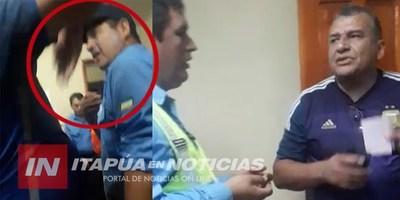 CAMBYRETÁ: CIUDADANO ARGENTINO FILMADO MIENTRAS AGREDÍA A LA POLICÍA MUNICIPAL.