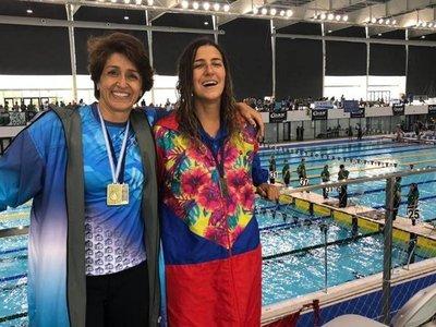 Medalla de oro y plata para Paraguay en suda de natación máster