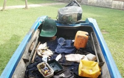 Incautan embarcaciones y pescados durante operativo