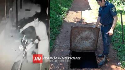 ASÍ ENCONTRARON GUARDADOS LOS CHASIS DE MOTOCICLETAS ROBADAS.