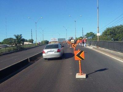 Mudan obras del viaducto de 4 Mojones al carril que va al Abasto