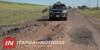 ANUNCIAN REPARACIÓN DE RUTA EN EL TRAMO SAN COSME- ATINGUY.