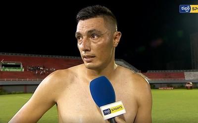 Óscar Cardozo, figura tras el empate ante 3 de Febrero