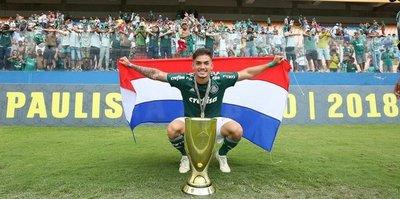 El juvenil paraguayo campeón con Palmeiras