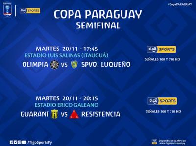 Las semifinales se jugarán este martes