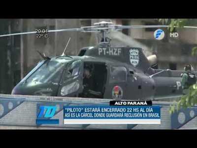 """""""Piloto"""" recluido en una cárcel de máxima seguridad en Brasil"""