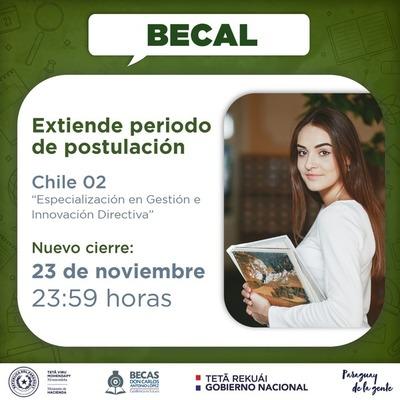 Becal extiende nuevamente plazo para postular a becas en Chile