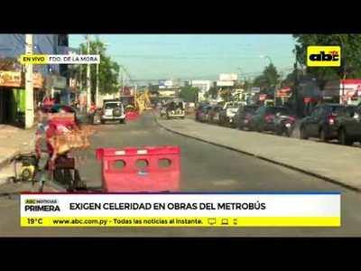Metrobús: Preocupación por demora en obras
