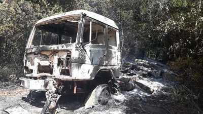 El EPP dejó un panfleto tras el homicidio y la quema de maquinarias