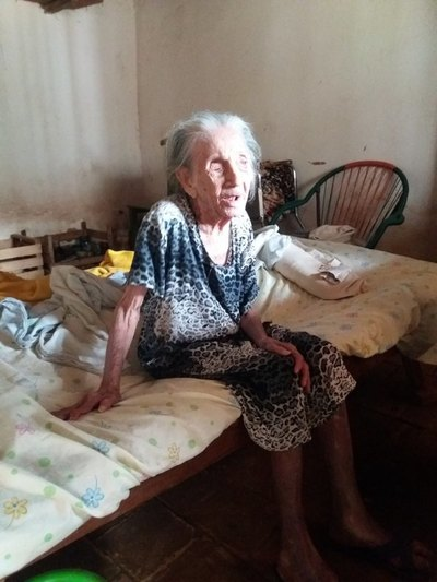 Abuelita de 110 años ya tiene su aire de paquete