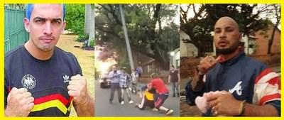 Escándalo! Difunden video de Carlos Aquilez Baez a trompadas con otro hombre en la vía pública.