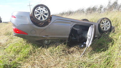 Cinturón de seguridad salvó la vida de dos esteños sobre la ruta uno