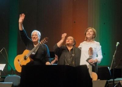 A puro lujo se vivió el concierto de Toquinho, María Creuza y Berta Rojas
