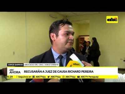 Recusarán a juez de causa Richard Pereira