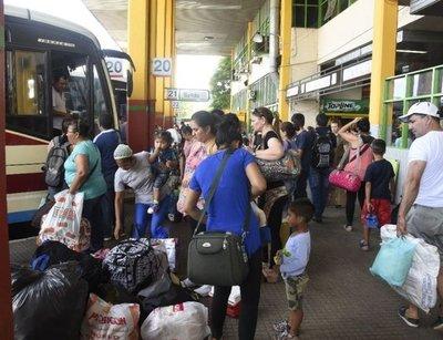 Caacupé: Dinatran liberó horario de buses – Prensa 5