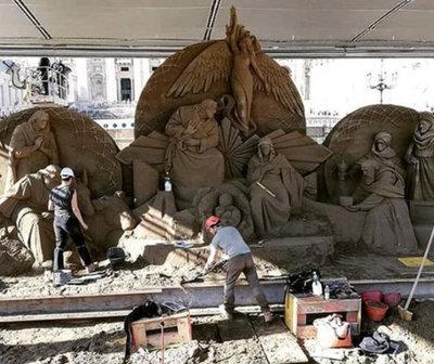 El Vaticano instalará un Belén de arena