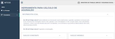Plataforma calcula el aguinaldo
