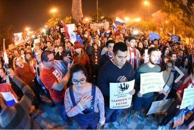 Multitudinario repudio contra la corrupción