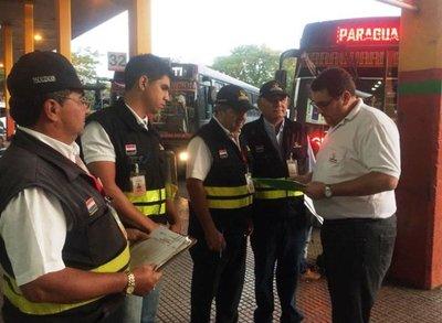 Dinatran intensifica la fiscalización del cobro del pasaje a Caacupé
