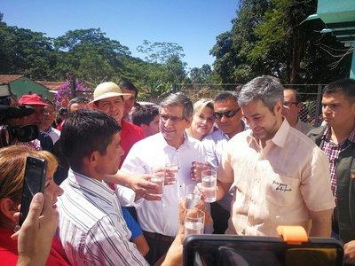 Inauguran sistema de agua potable en Colonia Independencia