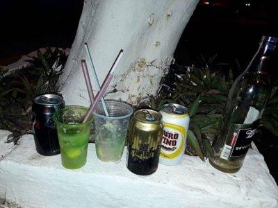 Son aprehendidos por beber cerveza cerca de la Basílica